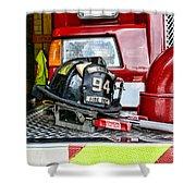 Fireman - Helmet Shower Curtain