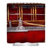 Fireman - Nice Axe  Shower Curtain by Mike Savad