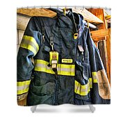 Fireman - Saftey Jacket Shower Curtain