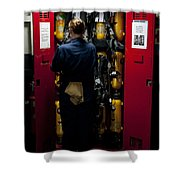 Fireman Stows A Self-contained Shower Curtain