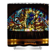Fireman's Hall Stained Glass Shower Curtain