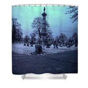 Firemans Monument Infrared Shower Curtain