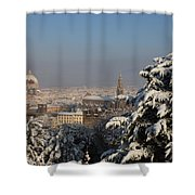 Firenze Under The Snow Shower Curtain