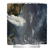Fires And Smoke In Southeast Australia Shower Curtain