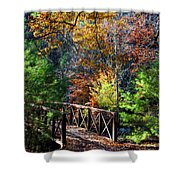 Fire's Creek Bridge Shower Curtain