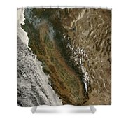 Fires In California Shower Curtain by Stocktrek Images