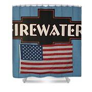 Firewater Shower Curtain