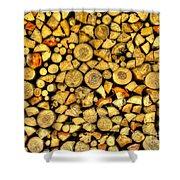 Firewood Shower Curtain