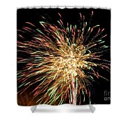 Firework Shower Curtain