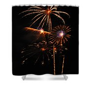 Fireworks 1580 Shower Curtain by Michael Peychich
