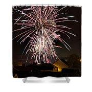 Fireworks 2 Shower Curtain