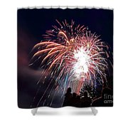 Fireworks 4 Shower Curtain