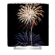 Fireworks  Abound Shower Curtain