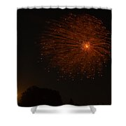 Fireworks And Wildfire Moon Shower Curtain