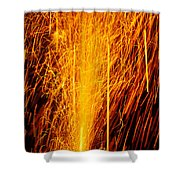 Fireworks Fountain Shower Curtain