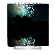 Fireworks On Golden Ponds. Shower Curtain by James BO  Insogna