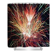 Fireworks One Shower Curtain