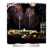 Fireworks Over Firelake Shower Curtain