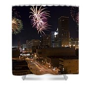 Fireworks Over The City Shower Curtain