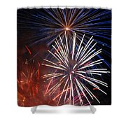 Fireworks Rectangle Shower Curtain