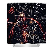 Fireworks Two Shower Curtain