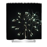 Fireworks With Moon II Fm2p Shower Curtain