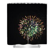 Fireworks With Moon IIi Fm3p Shower Curtain