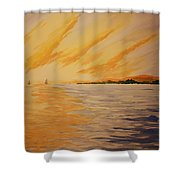 Firey Sunset Shower Curtain