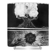 First Atomic Bomb, 1945 Shower Curtain