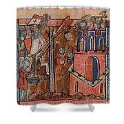 First Crusade Germ Warfare Siege Shower Curtain