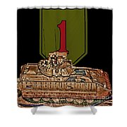 First Infantry Division Bradley Fighting Vehicle Shower Curtain