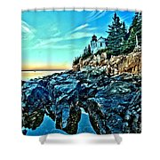 First Light At Bass Harbor Shower Curtain