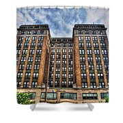 First Niagara Building With Takis Shower Curtain
