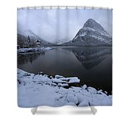 First Snow At Grinnell Shower Curtain
