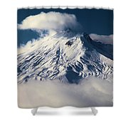 First Snow At Mt St Helens Shower Curtain