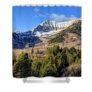 First Snow On Mt. Timpanogos - Utah Shower Curtain