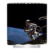 First U.s. Spacewalk Shower Curtain