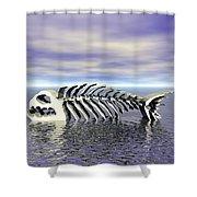 Fish Bones Shower Curtain