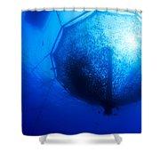 Fish Farm Pen Shower Curtain