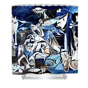 Fish Guernica Shower Curtain