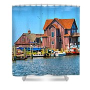 Fish House On The Island Shower Curtain