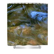 Fish In Rippling Water Shower Curtain