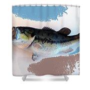 Fish Mount Set 07 B Shower Curtain