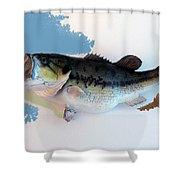 Fish Mount Set 07 C Shower Curtain