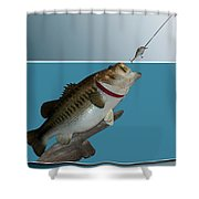 Fish Mount Set 13 D Shower Curtain