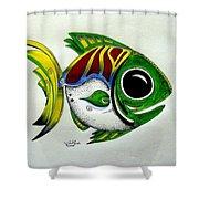 Fish Study 2 Shower Curtain