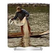 Fisherman Mekong 2 Shower Curtain