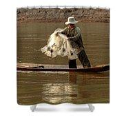 Fisherman Mekong 3 Shower Curtain