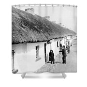 Fishermans Cottages In Claddagh Ireland Shower Curtain