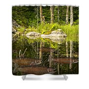 Fisherman's Dream Trout Pond Shower Curtain